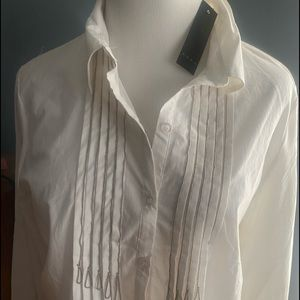 Beautiful blouse with silver accents